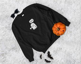 Boo sweatshirt - Halloween sweatshirt, Halloween crewneck, Boo crewneck, Halloween sweater, boo sweater, halloween costume, Ghost sweatshirt