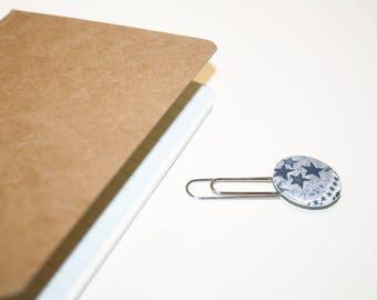 25mm Liberty Abdelraja blue bookmark