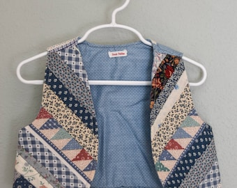 Vintage SWEET PATCHES Little Girls Vest