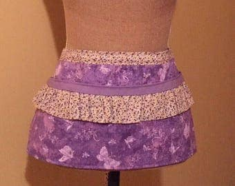 Purple Floral Vendor / Waitress Apron