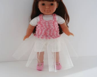 Clothing dress, shorty and slippers for 36cm doll type my Corolla