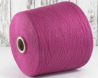 600g cotton yarn on cone, Italy/cotton yarn (Italy) on cone, lilac: Y001103