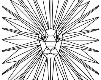 Leo, Lion: Print