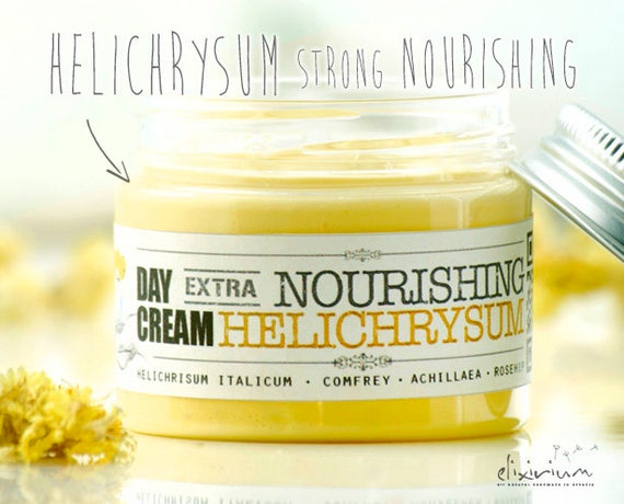 HELICHRISUM Extra NOURISHING Organic Day Cream • Strong hydrating and nourishing power of Helichrysum • Elixirium Organic Scincare