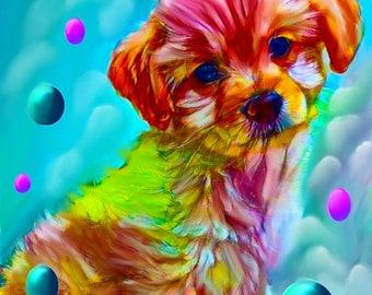 cutom dog portrait, your pet custom painting, dog art, pet art, pet painting, pet portrait