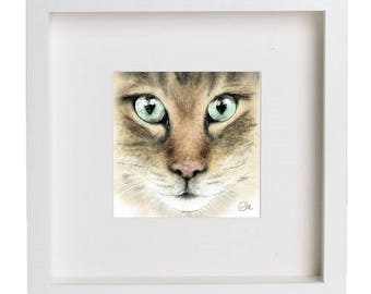 Mia the Bengal // framed cat print // cat portrait // bengal cat // cat lover gift // cat print // bengal cat print // cat gifts