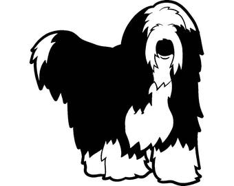 Bearded Collie #1 Dog Breed Herding K-9 Animal Pet Hound Puppy Logo .SVG .EPS .PNG Digital Clipart Vector Cricut Cut Cutting Download File