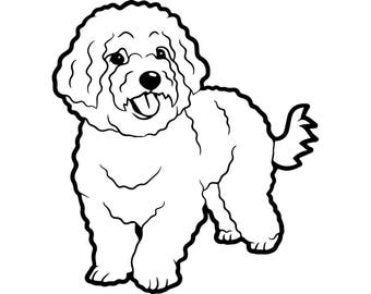 Bichon Frise #1 Dog Breed Toy Group K-9 Animal Pet Hound Puppy Logo .SVG .EPS .PNG Digital Clipart Vector Cricut Cut Cutting Download File
