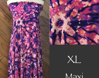 Lularoe XL tie dye maxi skirt dress new with tag