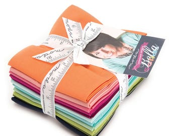 12 fat quarter bundle Moda Bella solids designer series V and Co 9900abvc