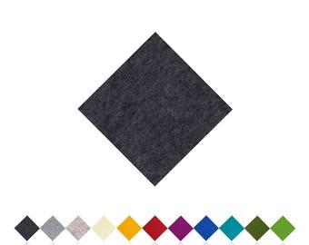 Chair cushions | ANTHRACITE | 100% wool felt | Felt pads | Seat cushion