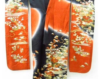 Kyoto Nishijin  silk Furisode (large size)
