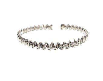 Sterlin Silver Twisted Wrap Around Bangle