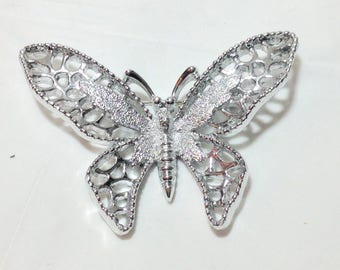 Vintage Silvertone Avon Butterfly Pin