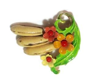 Vintage Sellini 60's Banana Brooch