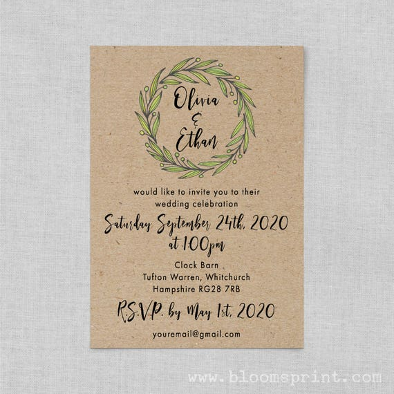 Rustic barn wedding invitations recycled paper, Kraft wedding invite suite, Rustic wedding invitation template, Country wedding invitations