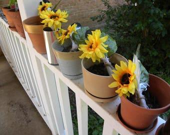 Set of 5 Handmade Sunflower Boutonnieres