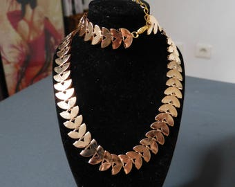 Spike gold chain necklace