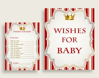 Wishes For Baby Baby Shower Wishes For Baby Prince Baby Shower Wishes For Baby  Red Gold