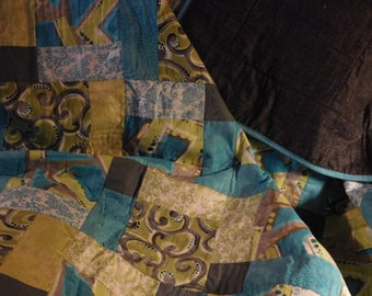 Green and Turquoise Quilt