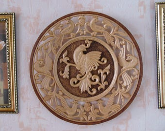 3D wood wall panel/wall decor/wooden birds/wall art wood/hand carved panel/handmade gift/birthday gift/mother's day/original gift