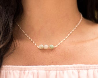 Amazonite Gemstone Chain Necklace