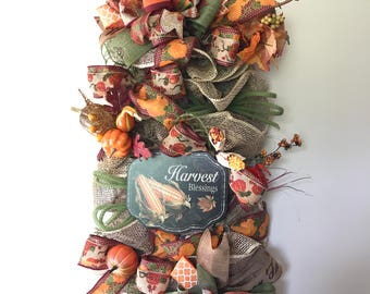 Fall Swag/Autumn Swag/Front Porch Decor/Fall Decor/Autumn Decor/Front Door Wreath/Indoor Door Decor