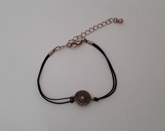 Black and bronze Wire Bracelet