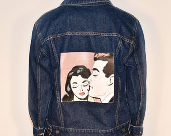 Vintage Pop Art Denim Jacket