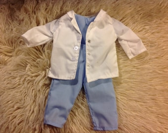 American Girl doctor's coat and scrubs, fits 18 inch dolls