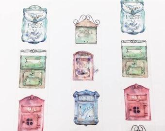 Vintage Style Mailbox Washi Tape