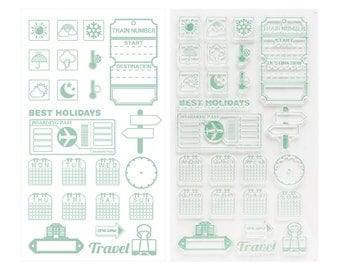 Week & Reminder Clear Stamps - Transparent stamp, Journal, Planner, Craft, Traveler Notebook