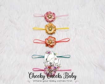 Newborn Headbands-Set of 5- Ready to Ship
