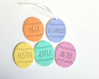 PERSONALISED Easter Tags-Pastel-Easter egg-easter basket-personalized-easter gift-first easter-easter keepsake