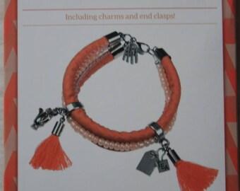 Fashion accessory: Orange bracelet kit
