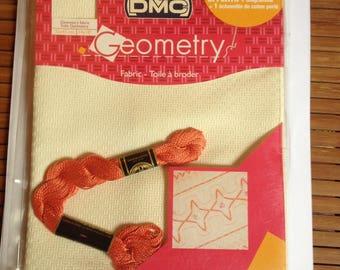 canvas Geometry ecru DMC embroidery FLOSS