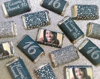 Denim & Diamonds Miniature Candy Bar Wrappers
