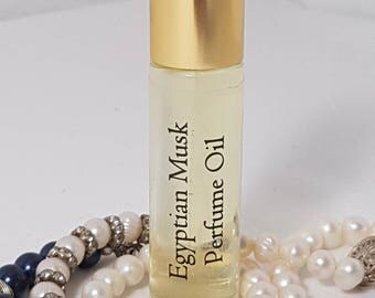 EGYPTIAN MUSK Roll-On Perfume, Perfume Oil 10ml, Vegan, Natural, Alcohol Free, Dupe