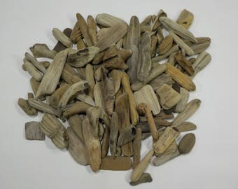 110 Small/Tiny Driftwood Pieces 3.5-9cm/1.4-3.7'', Mini Driftwood Pieces, Decorative Driftwood, Nautical Decor, Bowl Filler #97B