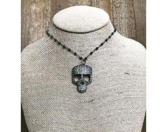 Pave Skull Necklace