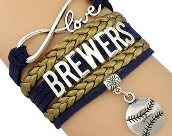 Milwaukee Brewers Infinity Love Bracelet