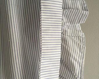Vintage Pinstripe cotton Half apron, size 10-12.