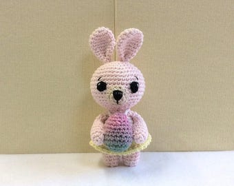 Child easter gift etsy bunny crochet amigurumi dress up bunny rabbit easter bunny with easter egg easter negle Gallery