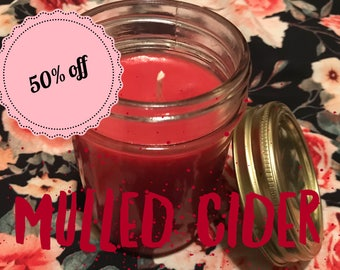 Mulled Cider Homemade Soy Wax Candle