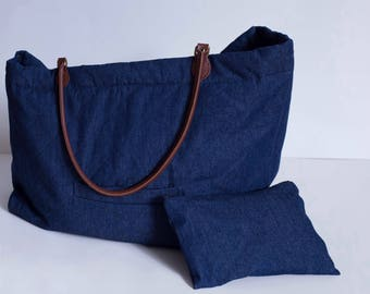 Denim Overnight Bag