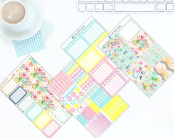 In Summer - Weekly Kit Stickers for Erin Condren Vertical LifePlanner