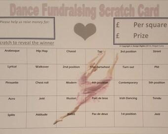 Dance Fundraising Scratch Card