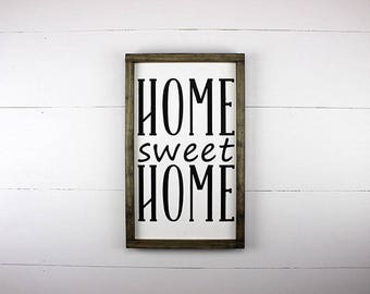 Home Sweet Home, Wood Sign, Handmade Wood Sign, Painted, Housewarming Gift, Rustic Wood Sign, Farmhouse Syle, New House Gift