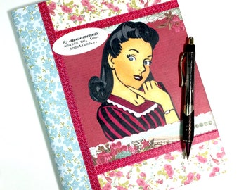 Vintage Style Journal, Writing Journal, Personal Journal, Unique Journal, Notebook Journal, Journal, Diary, Unique Diary, Altered Notebook