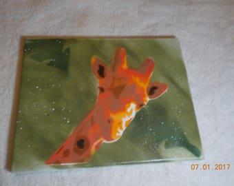 Giraffe Spray Paint Art